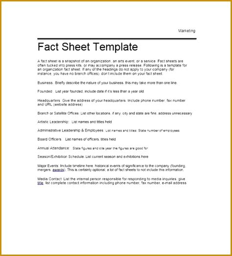 event fact sheet template 6 event information sheet template fabtemplatez