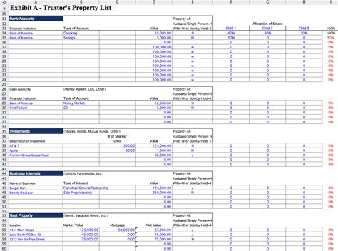 Living Trust Builder Estate Planning Software Template Trust Accounting Excel Template