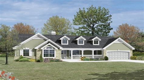 custom ranch home designs large ranch style house
