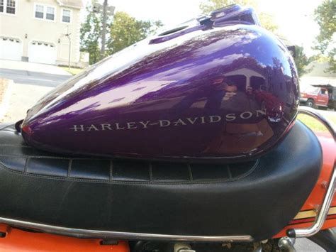 find harley dyna super glide sport fxdx gas tank fxd superglide concord purple oem motorcycle