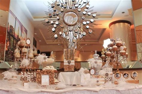 Old Hollywood Candy & Dessert Table: Gold and White