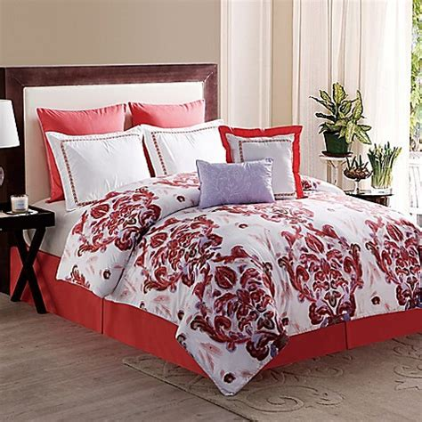 bed bath and beyond coral springs pavillion 8 piece comforter set in coral bed bath beyond