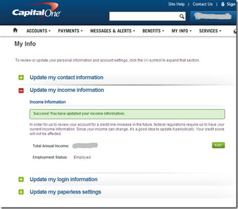 Credit Card Update Letter Capital One Uses Email To Request Cardholder Income Update Finovate
