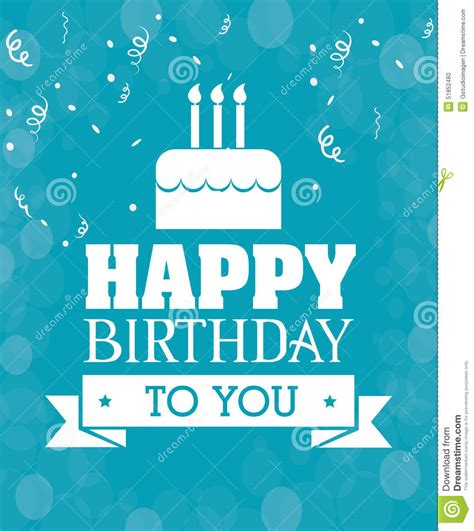 happy birthday gift card design happy birthday card design stock vector illustration of