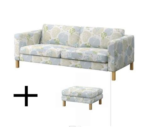 karlstad sofa bed slipcover ikea karlstad sofa bed and footstool slipcovers sofabed ottoman covers gronvik gr 246 nvik blue multi