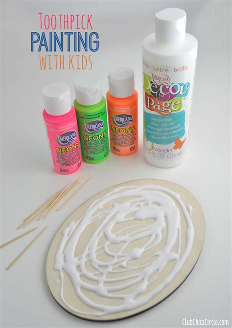 Decoupage Paint - easy toothpick painting with