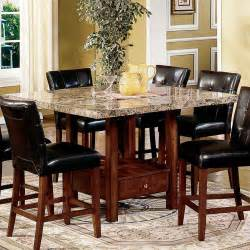 marble counter height dining table to it steve silver montibello marble top