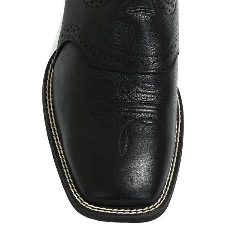 mens black leather cowboy boots ariat s sport black leather cowboy boots d d