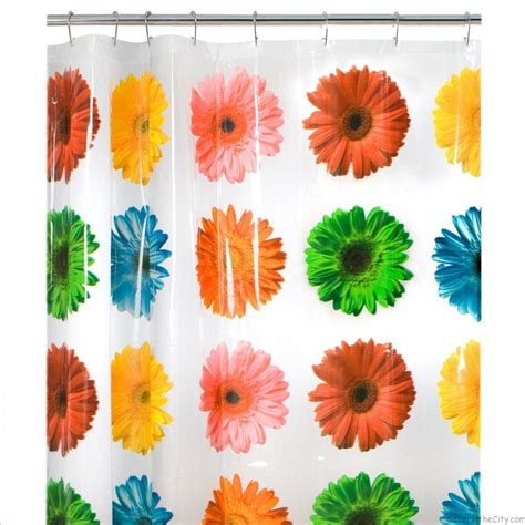 gerbera daisy shower curtain maytex gerbera daisy peva shower curtain only 8 98 reg