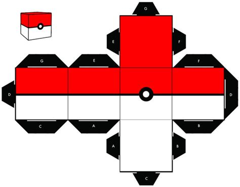 How To Make Papercraft - pokeball cubee by sixtimesnine on deviantart