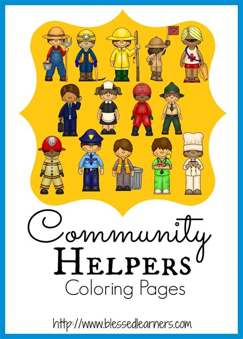 community helpers coloring pages community helper coloring pages blessed learners