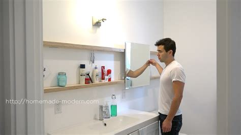 modern ep94 diy sliding bathroom mirror