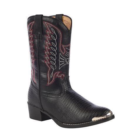 durango boots s durango boot toddler black lizard print western boots