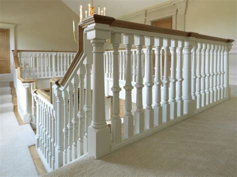 wood banisters oak staircase white spindles design treads combine with