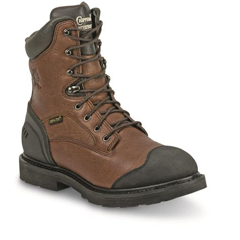 with boots chippewa s waterproof 8 quot heavy duty work boots
