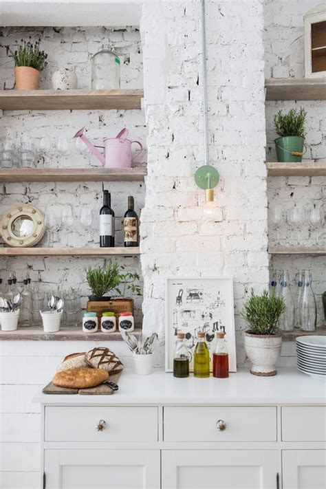 kitchen with brick wall painting brick walls white an increasingly popular trend