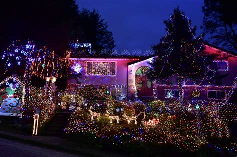 christmas light displays around metro vancouver family