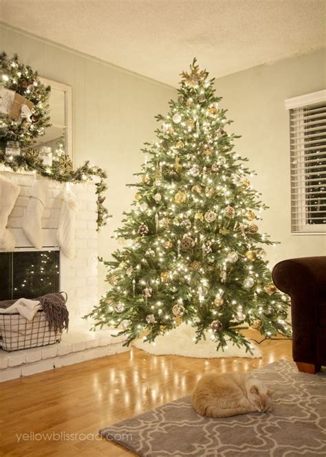 how to put lights on a tree martha stewart rustic glam tree and mantel trees