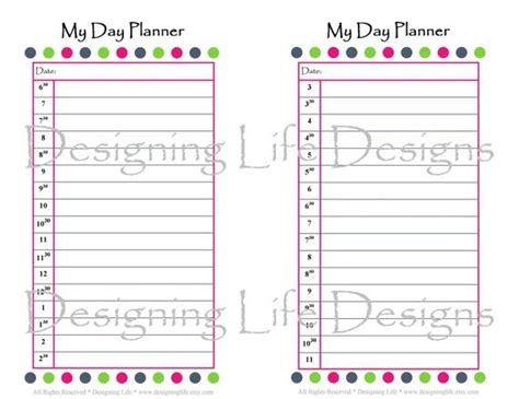free printable planner set day planners printable printable day planner set 5 5 x
