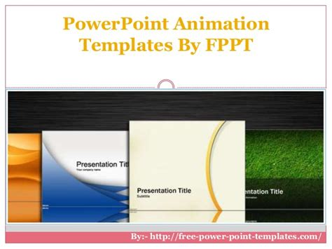 Power Point Animation Templates By Fppt Fppt Templates