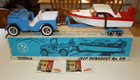 jeep boat 1963 tonka jeep runabout with boat box on ebay ewillys