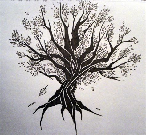 tree tribal tattoo tribal tree by wynterfang on deviantart