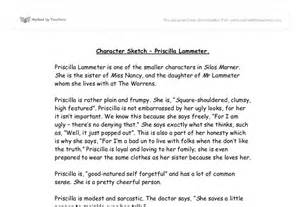 Character Analysis Essay Exle by Character Sketch Priscilla Lammeter Gcse Marked By Teachers