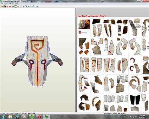 Dota Papercraft - dota 2 mask juggernaut dota 2 papercraft