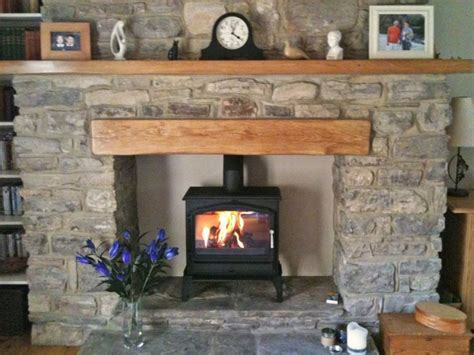 esse 100 stove oak fireplace beam fireplace oak