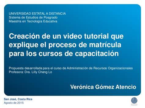 video tutorial que es creaci 243 n de un video tutorial que explique el proceso de