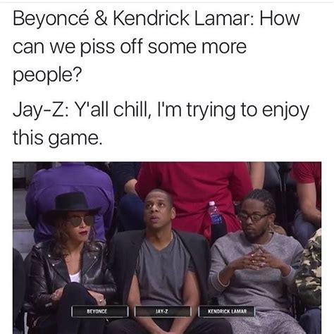 Kanye And Jay Z Meme - memes about beyonce jay z kendrick lamar visit to a