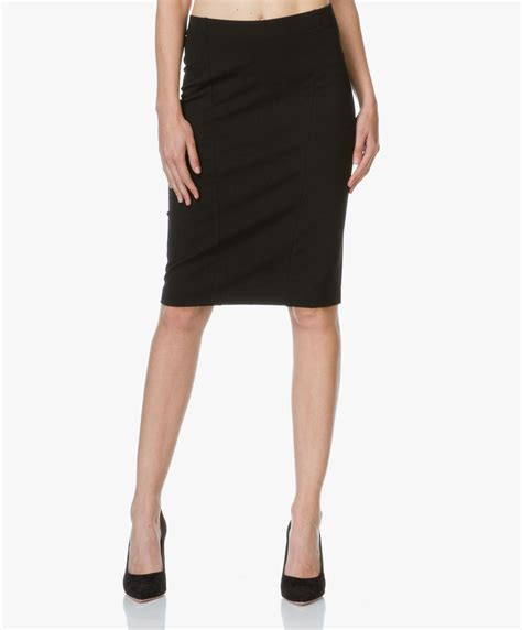 filippa k firm jersey pencil skirt black 23309 1433