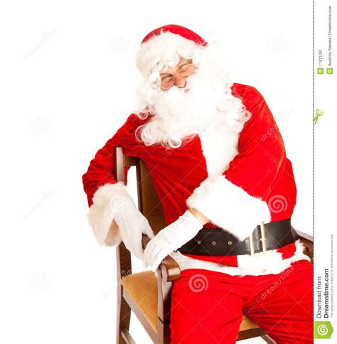 santa in chair stock image image 11211291