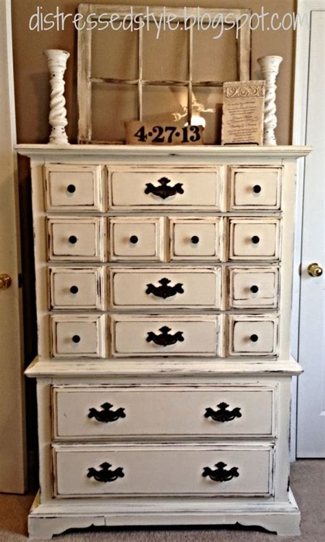 White Refinished Dresser by Distressed Style Distressed Re Do Diy Dresser