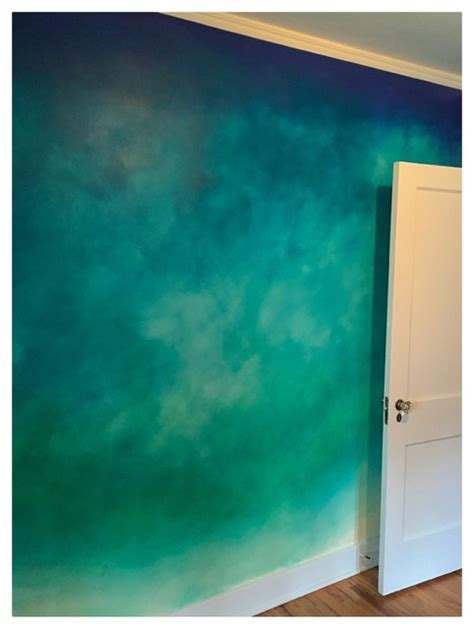 Ombre wall bedroom denver by the color lab