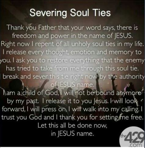 prayer breaking soul ties quotes