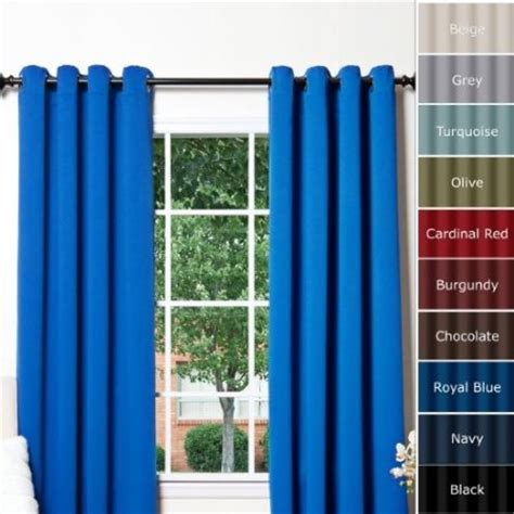 royal blue grommet top thermal insulated blackout curtain 63 quot length 1 pair gt