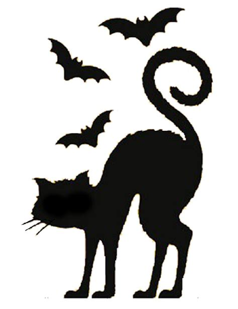 black cat templates for black cat silhouette template clipart best