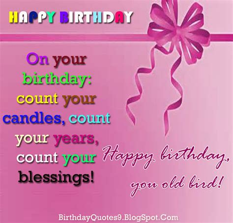 Birthday Blessing Wishes Quotes Happy Birthday Wishes Quotes Count Your Blessings