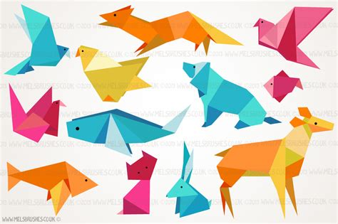 Origami Creatures - origami animal illustrations illustrations on creative