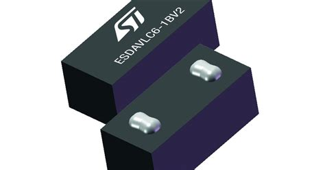 st tvs diodes smallest tvs protection diode barely visible 01005 package is 0 4 x 0 2 mm eenews europe
