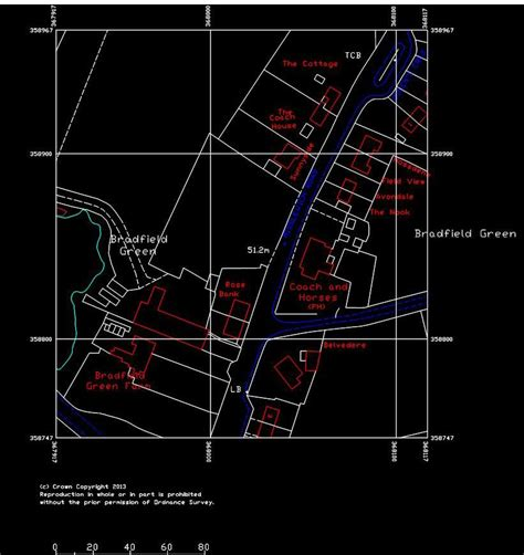 M Drawing In Autocad by Ordnance Survey Dwg Or Dxf Vector Data 200m X 200m 4ha