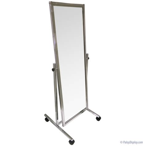 Chrome Floor by Chrome Floor Mirror With Casters Floor Mirror Mirrors