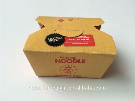 Paper Box Lunch Ukuran M custom logo printing paper disposable food containers