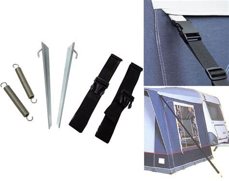 awning tie down straps caravan motorhome 8 piece awning tie down kit storm