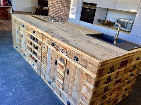 recycled wood pallets made kitchen island pallet wood
