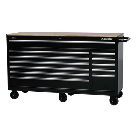 husky tool bench husky 66 in w 24 in d 12 drawer heavy duty mobile