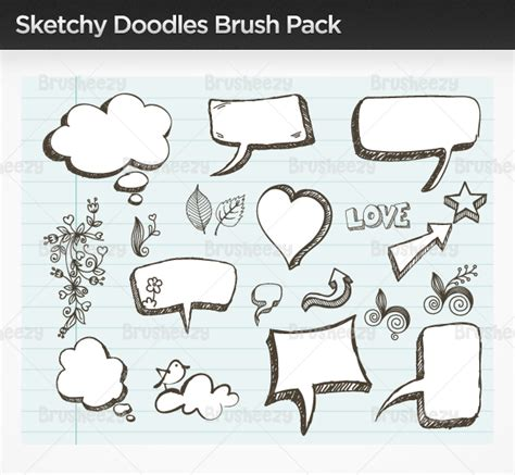 free doodle brush photoshop sketchy doodle brush pack free photoshop brushes at