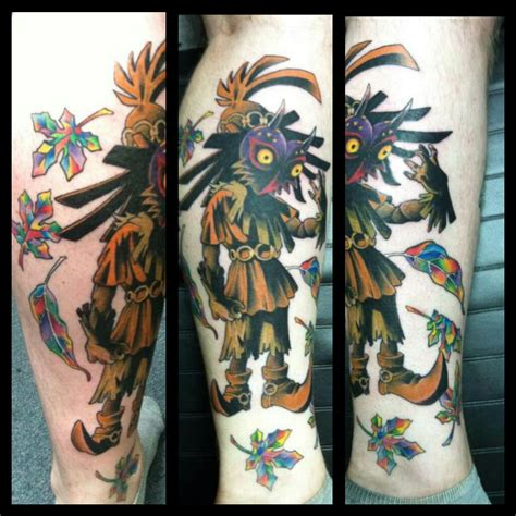 skull kid tattoo skull kid majora s mask by joe p of uncanny ink