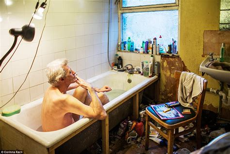 cluttered bathroom photo series chronicles life of compulsive hoarder george